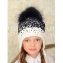 Зимняя шапочка для девочки ТАИСИЯ Миалт