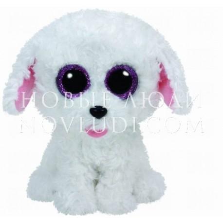 Мягкая игрушка Щенок (белый) Pippie Beanie Boo's, 15 см