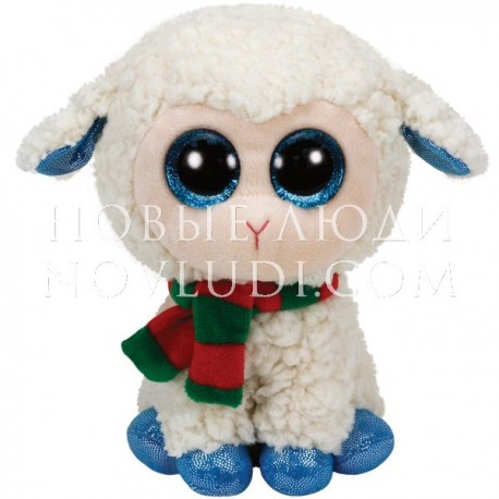 Beanie Boo's Овечка (белая) с шарфом, 15,24 см