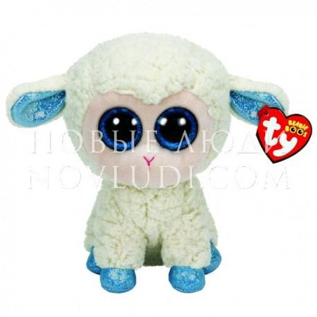 Мягкая игрушка Овечка (белая с голубыми копытцами) Beanie Boo's, 25см
