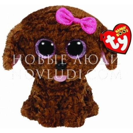 Мягкая игрушка Щенок (коричневый) Maddie Beanie Boo's, 15 см