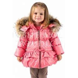 Комплект для девочки куртка Wojcik с натуральной опушкой+п/к MISS EMMA (MISS EMMA) 62 - 98 cm