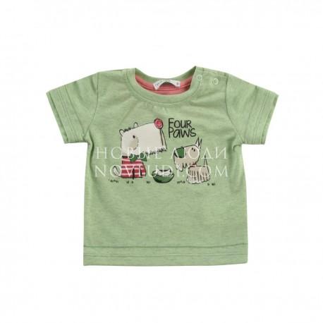 Рубашка к/р для мальчика Wojcik FOUR PAWS (CZTERY ŁAPY) 68 - 98 cm