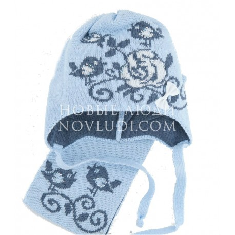 Комплект шапка+шарф МАЛИНОВКА Миалт