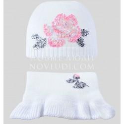 Комплект шапка+шарф КОРОЛЕВА РОЗ Миалт