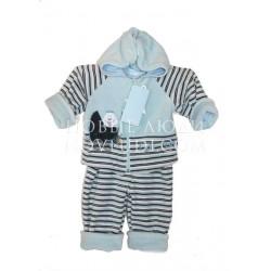 Велюровый комплект для мальчика на хлопковой подкладке Pilguni