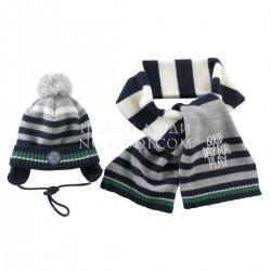 Комплект шапка+шарф для мальчика Wojcik GOOD DAY (DOBRY DZIEŃ) 68-98
