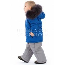 Комплект куртка с натуральной опушкой+полукомбинезон Wojcik FOREST CAMP (LEŚNY OBÓZ) 62 - 98 cm