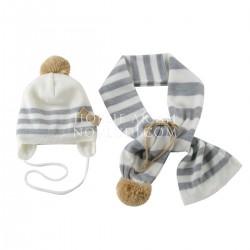 Комплект для девочки шапка+шарф+варежки Wojcik MIAU! 62 - 98