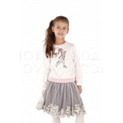 Блуза для девочки Wojcik ZIMOWA ZABAWA 104-158