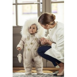 Детский комбинезон для девочки с натуральной опушкой BŁYSZCZĄCY AKCENT 68-98 Ceremony by Wojcik