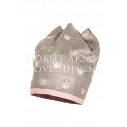 Двойная шапочка с металлизированной нитью  для девочки Jamiks