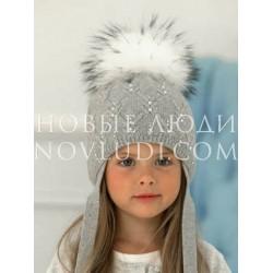 Зимняя шапочка для девочки на утеплителе Mialt