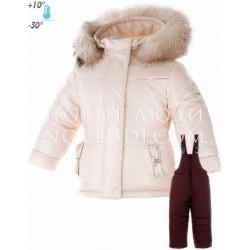 Комплект Pilguni куртка+полукомбинезон для девочки PASTELS Girl