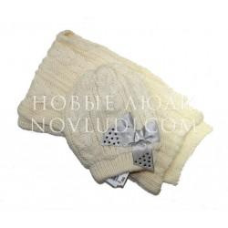 Комплект шапка+шарф для девочки Wojcik Lady Diamond PRECIOUS TIME(DROGOCENNY CZAS) 104-146