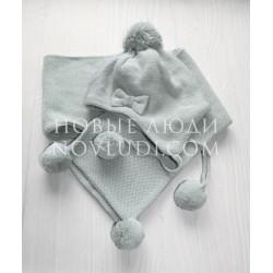 Комплект шапка+шарф для девочки DELIGTHFUL TIME (ROZKOSZNY CZAS) Ceremony by Wojcik