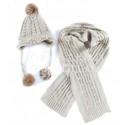 Комплект шапка и шарф Wojcik Chic cat (ELEGANCKI KOT) 104-140