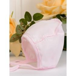 Чепчик из кулирки для новорожденной девочки