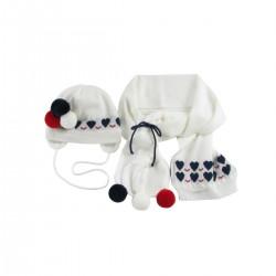 Комплект(шапка+шарф+рукавички) Wojcik SCHOOL OF BEAUTY (SZKOŁA PIĘKNOŚCI) (62 - 98 cm)
