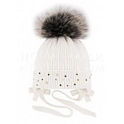 Белая шапка с кашемиром Алина Миалт