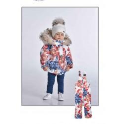 Зимний комплект с эко опушкой для девочки Pilguni