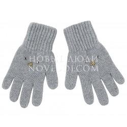 Серые перчатки с кашемиром Димка Mialt