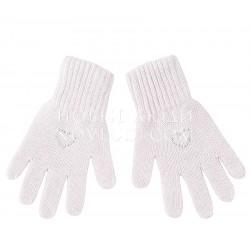 Розовые перчатки с кашемиром Валентинка Mialt