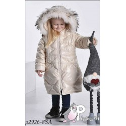 Пальто для девочки с натуральной опушкой Pilguni