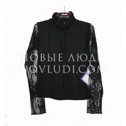 Блузка с кружевными рукавами для девочки Pacco