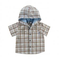 Рубашка к/р с капюшоном ON A TRIP (68-98)