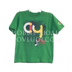 Футболка для мальчика зеленого цвета Besta+
