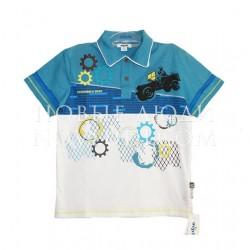 Рубашка поло для мальчика Wojcik NIEBEZPIECZNA STREFA2