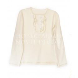 Нарядная трикотажная блузка для девочки DAGA