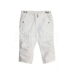 Белые брюки капри для девочки Besta+