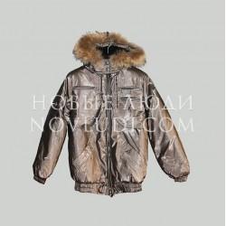 Куртка зимняя для подростка с натуральной опушкой