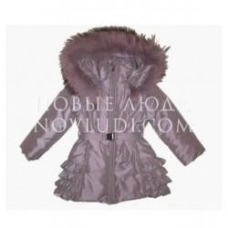 Удлиненная куртка с натуральной опушкой Wojcik для девочки Divas clozet (GARDEROBA DIVY) 98-134