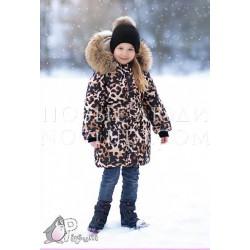 Пальто с опушкой Pilguni LEOPARD