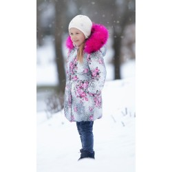 Пальто LEOPARD с натуральной опушкой Pilguni