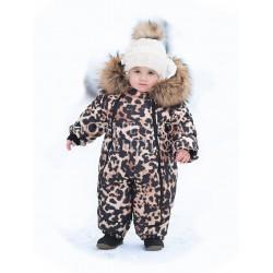 WALK INTO THE WILD Зимний конверт-комбинезон для девочки с натуральной опушкой Pilguni