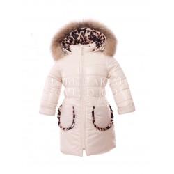 Кремовое пальто для девочки WILD AND FREE Pilguni