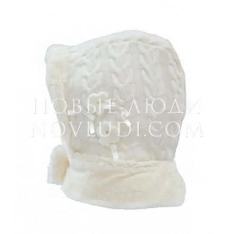 Вязаная зимняя шапка капор Trestelle