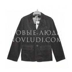 Вельветовый серый пиджак для подростка Besta+