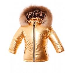 SHINY Золотая куртка для девочки подростка Pilguni