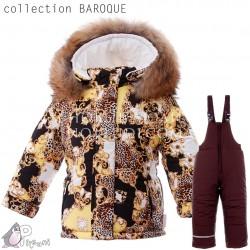 BAROQUE Комплект зимний с натуральной опушкой для девочки Pilguni
