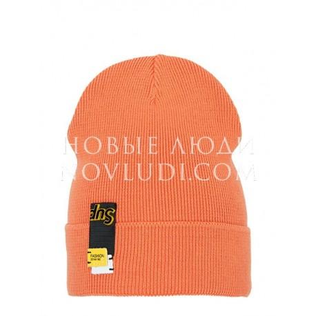 Оранжевая шапочка на весну для мальчика Mialt