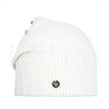 Белая подростковая шапка ЛУННЫЙ КАМЕНЬ Mialt