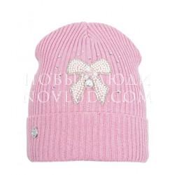 Розовая шапка для девочки Ясмина Mialt