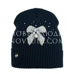 Подростковая шапочка синего цвета Ясмина MIALT