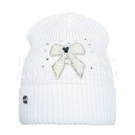 Шапочка для девочки ЯСМИНА Mialt цвет белый