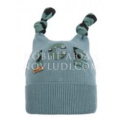 Вязаная хлопковая шапка для мальчика Бармалей Mialt